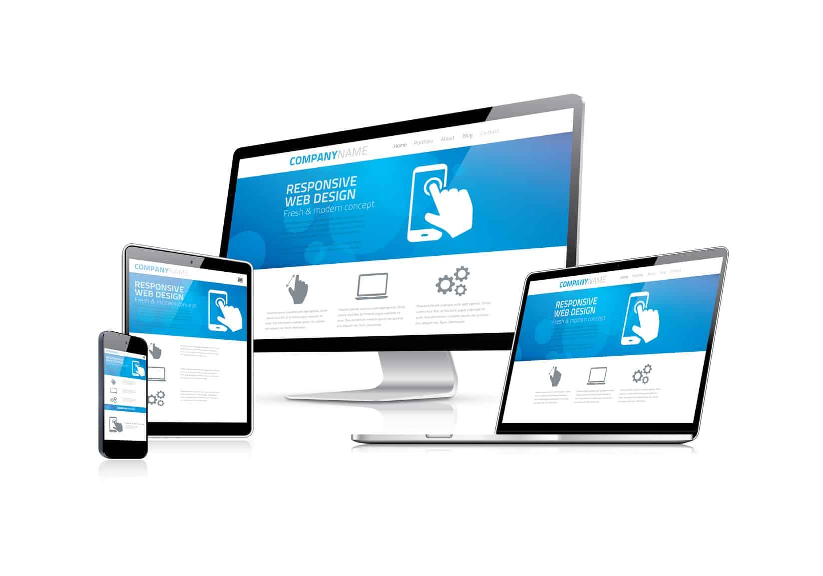 Site responsive design bleu